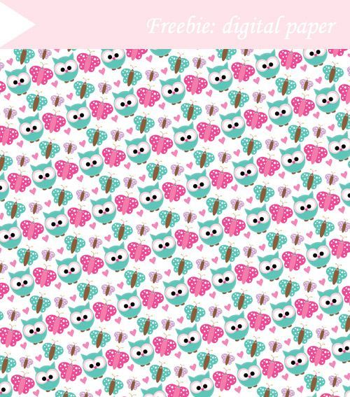 Free Digital Paper- Owls