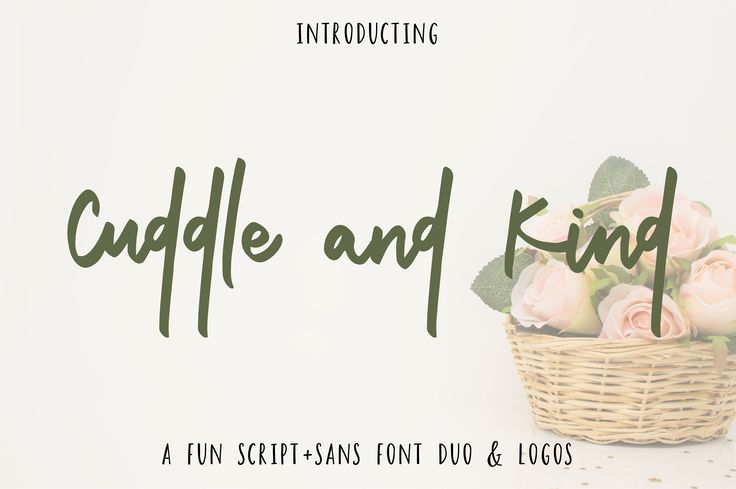 Cuddle and Kind Font Duo + Logos  - Script - 1
