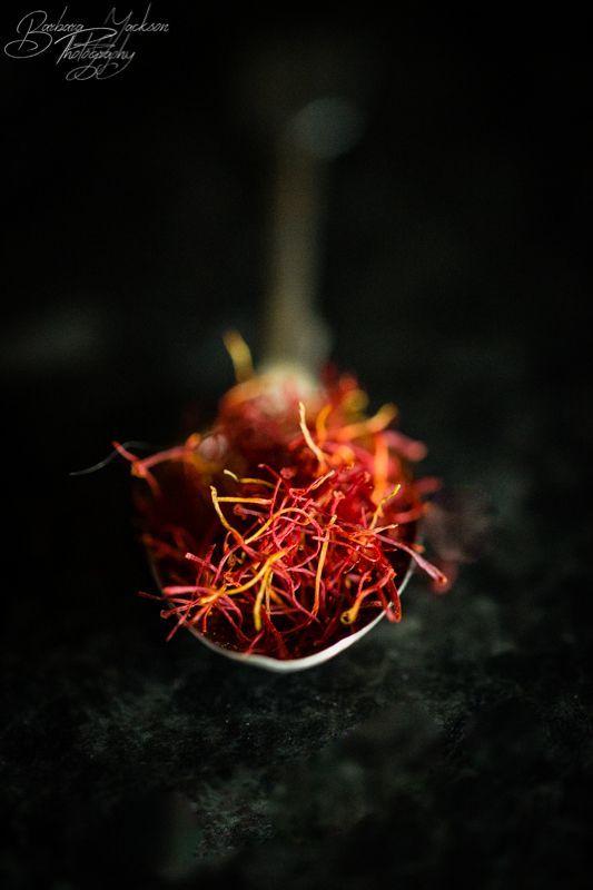 Saffron #saffron, #spice, #spoon, #chiascuro, #foodphotography, #still-life, #BarbaraJacksonPhotography, #macro, #Sigma105mmmacro