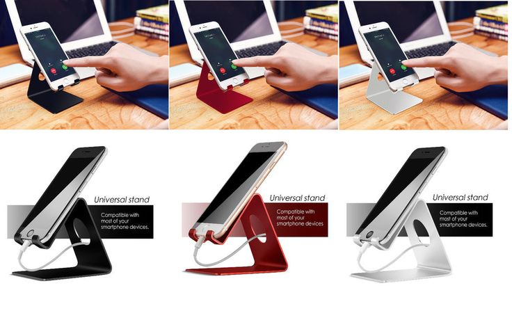 This #CellPhone #SmartphoneStand is designed for anyone who wants to say goodbye with tangled wires and adapters. If you like a tidy work space or night stand, choose it!