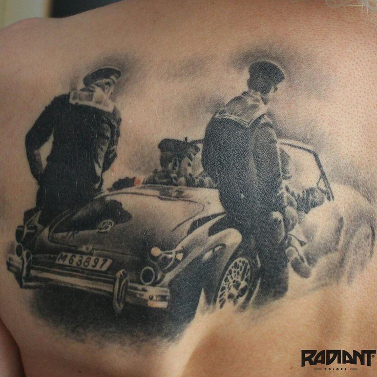 Black and white photo seaman tattoo blackandgray