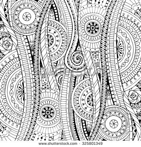 Vector Ethnic Pattern Can Be Used For Wallpaper Fills Coloring Books And Pages Kids Adults