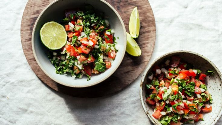 I literally live on this in the summer when tomatoes are garden-ripe! I prefer this to cooked salsa, and I really load up on the cilantro. Of course, you can adjust the heat and any other ingredient as you wish, but this is the basic recipe. Serve with your favorite tortilla chips. Hope you enjoy it as much as I do!