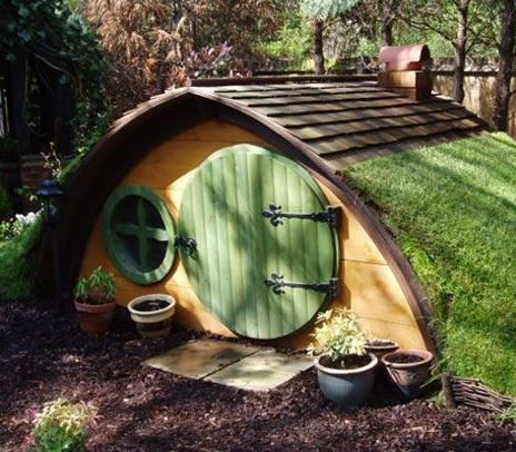 The kids will want their own Hobbit Hole and it's easy once you know how. They'll also  the Pallet Playhouse and Teepee!