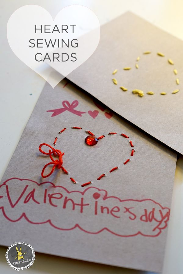 Simple sewing cards for preschoolers | TinkerLab.com