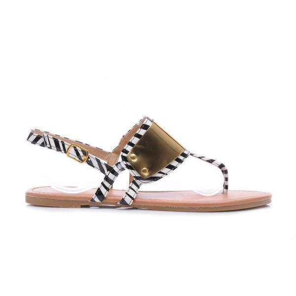 Japonki ze złotymi dodatkami Sandały