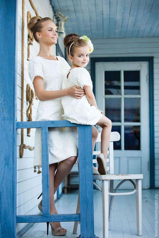Baby dress / Одежда для девочек, ручной работы. Платье из 100 % хлопка. ЭльФея -ободок-цветок к платью. Интернет-магазин Ярмарка Мастеров.