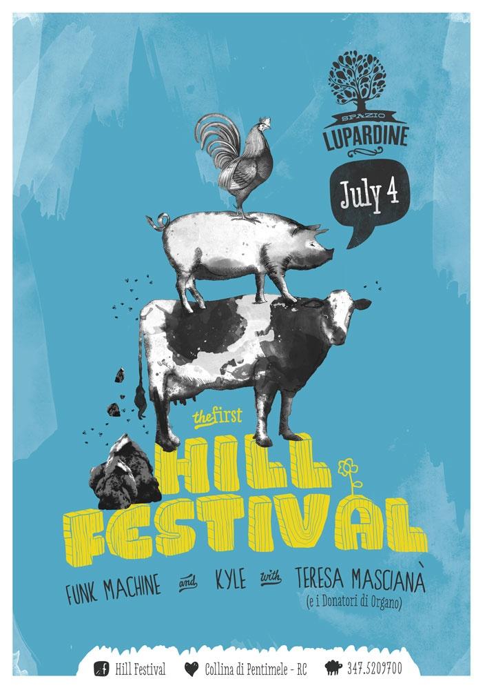 Hill Festival Poster