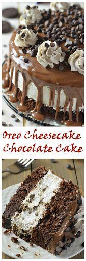 Oreo Cheesecake Chocolate Cake! via OMG Chocolate Desserts. @Alyssa Goering