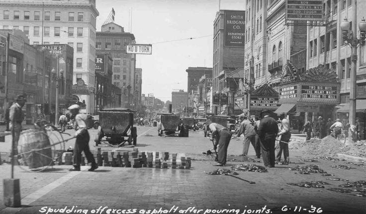 Construction On Saginaw Street June 11th 1936 Flint Michigan Michigan Saginaw