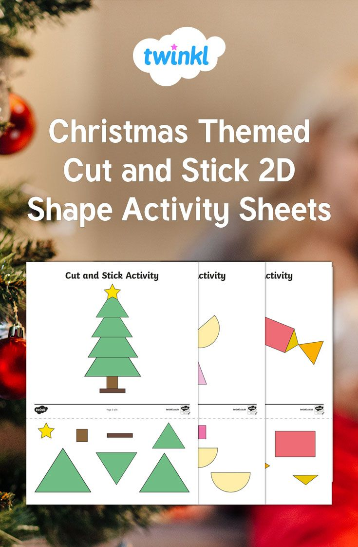 Use These Activity Sheets For Children To Match 2d Shapes By Building Ch Christmas Kindergarten Christmas Literacy Activities Kindergarten Christmas Activities