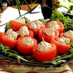 Pomodorini ripieni alla robiola-ricetta estiva-golosofia