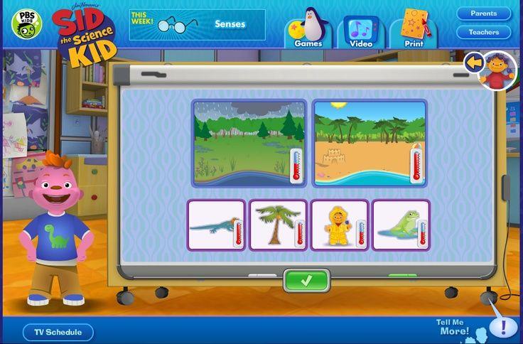 Sid the Science Kid - PBS website full of fun science games for kiddies