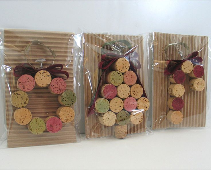 Reserved for kendrasg  -- Wine Cork Ornaments and Trees. $135.97, via Etsy.