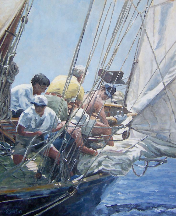 Sailing. Oil on canvas 2007