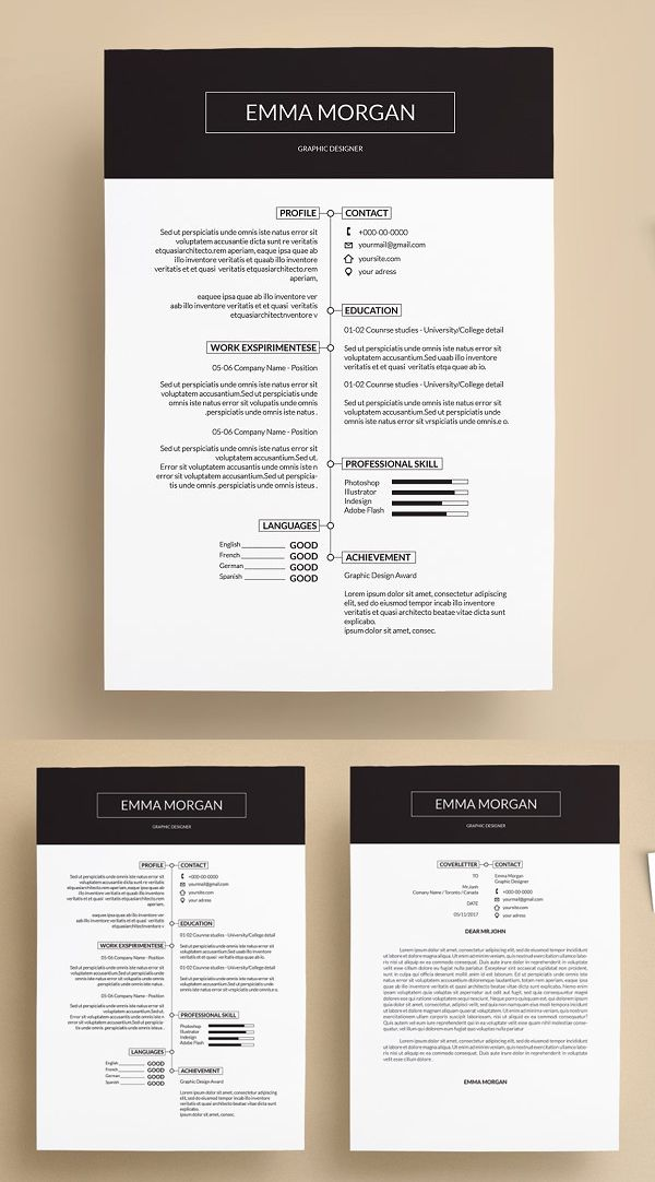 Creative Simple Resume Template. resume template for word ...