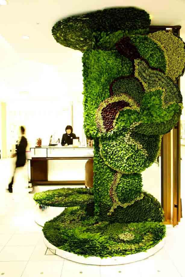 Complex and intricate living art arrangements composed of ...