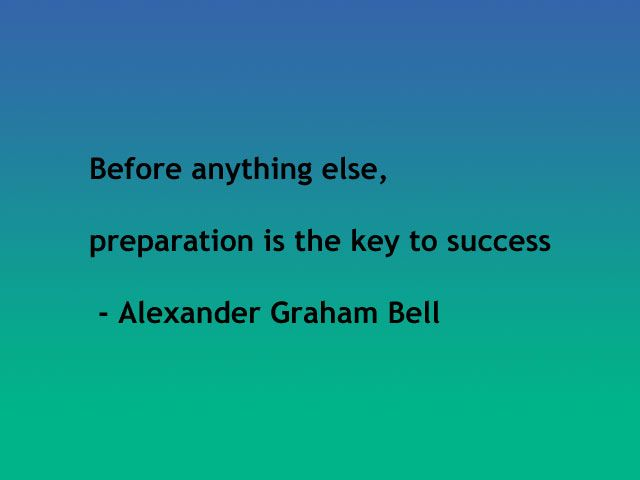 before anything else preparation is the key to success essay Review and discuss works by alexander graham bell for free  before anything else, preparation is the key to success  writing a alexander graham bell essay.