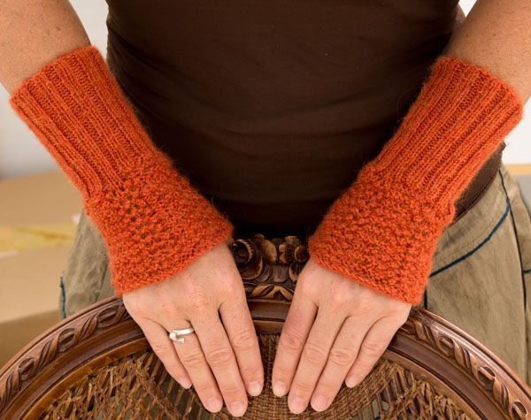 Instructions: Wrist warmers knitted very quickly