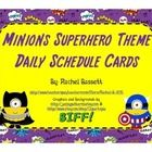 These Minion Superhero schedule cards are a cute and colorful addition to your Minions Superhero themed classroom!   There are 2 cards per page and...