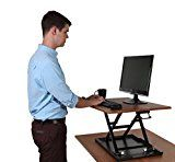 """#9: AirRise - Standing Desk Converter   Adjustable Height Pneumatic Stand Up Desk - Sit to Stand with Your Current Desk in Seconds (32"""" Wide, Teak Wood Finish)   https://www.amazon.com/AirRise-Standing-Converter-Adjustable-Pneumatic/dp/B01N9I7FQ5/ref=pd_zg_rss_ts_op_12900761_9?ie=UTF8&tag=azoffice-20"""