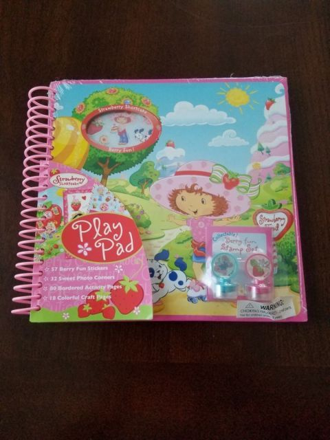 "2014 Strawberry Shortcake 8"" Play Pad Activity Set – Craft Pages, Stickers, Scrapbook 