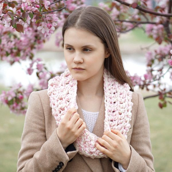 Scarf Infinity Scarf, Ashley Pink Ivory Chunky Infinity scarf, merino... ($48) ❤ liked on Polyvore featuring accessories, scarves, infinity scarves, chunky circle scarf, pink shawl, tube scarf and chunky infinity scarves