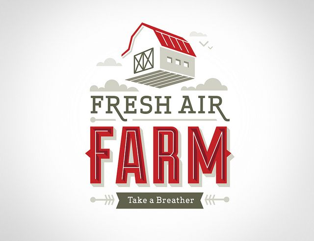 Fresh Air Farm Logo by Whiskey Design, via commercial ads funny ads