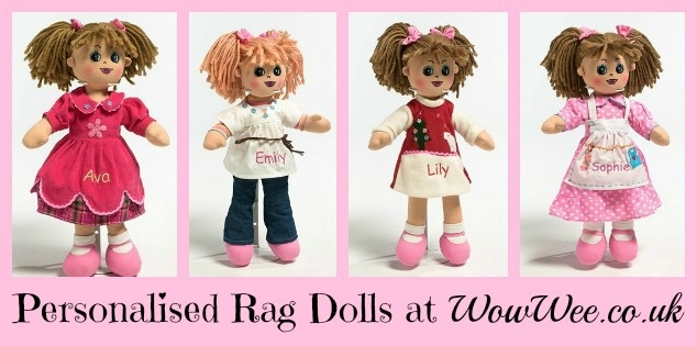 Personalised Rag Dolls at WowWee.co.uk http://www.wowwee.co.uk/Personalised-Rag-Dolls-s/36.htm