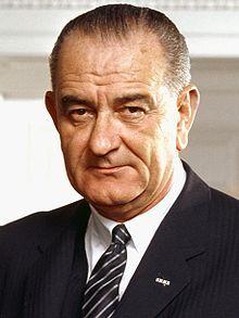 Lyndon Johnson. Presidente de los Estados Unidos.