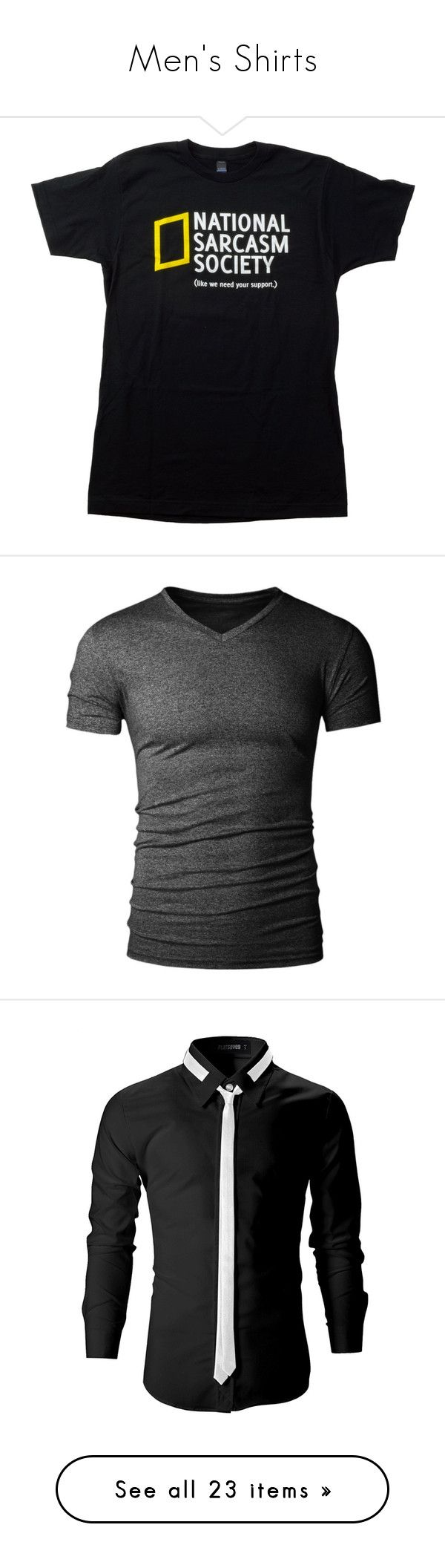 """""""Men's Shirts"""" by flamingsky ❤ liked on Polyvore featuring tops, t-shirts, shirts, shirt top, t shirt, unisex tees, tee-shirt, unisex t shirts, men's fashion and men's clothing"""