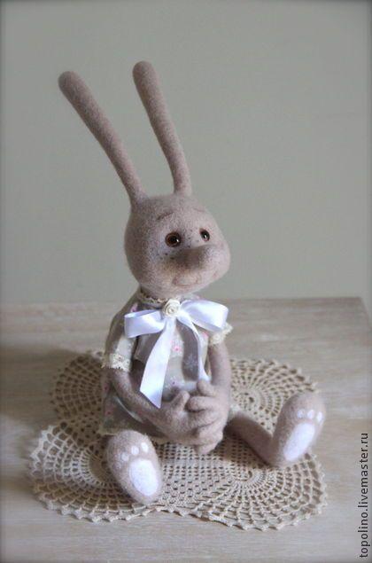 Зайка Боня - бежевый,зайка,заяц,заяц игрушка,зайчик,кролик игрушка,кролик