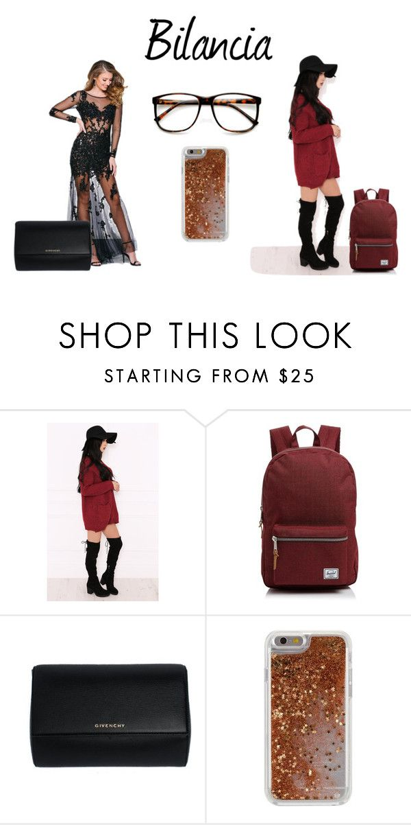 """Bilancia's fashion"" by mariapizzuto on Polyvore featuring moda, Dolly Rocka, Herschel Supply Co., Givenchy, Agent 18 e ZeroUV"