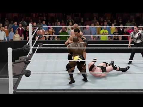 WWE 2K16: Cesaro & Apollo Crews vs. Sheamus & Alberto Del Rio (WWE Raw June 27, 2016)