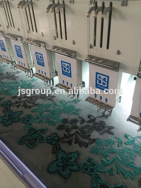 Source JINSHENG Multi heads Comoputer embroidery machine Price on m.alibaba.com