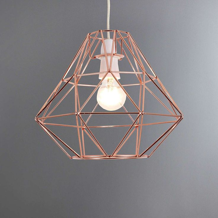 Bremen Geometric Copper Pendant | Dunelm