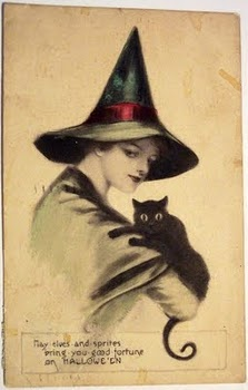 A Vintage Witch and her Familiar