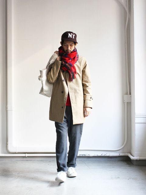晴れ nanamica より人気のステンカラーコートのほか、たくさん入荷です。 nanamica  GORE-TEX soutien collar coat color : beige , marine navy siz [...]