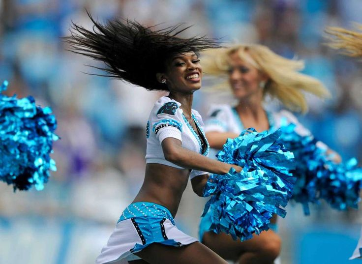 Carolina Panthers cheerleaders perform in the first half of an NFL football game against the Minnesota Vikings in Charlotte, N.C., Sunday, Sept. 25, 2016. (AP Photo/Mike McCarn) Photo: Mike McCarn, Associated Press / FR34342 AP