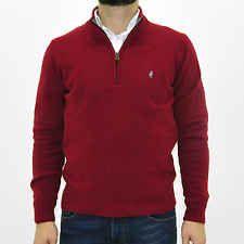 MCS Marlboro Classics Maglia con zip uomo  maglione rosso jumper man 4760