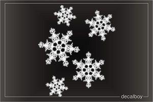 Snowflakes Car Decal