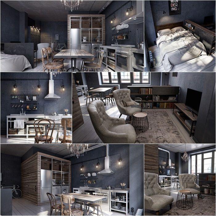 Famoso Oltre 25 fantastiche idee su Appartamento industriale su Pinterest  TV43