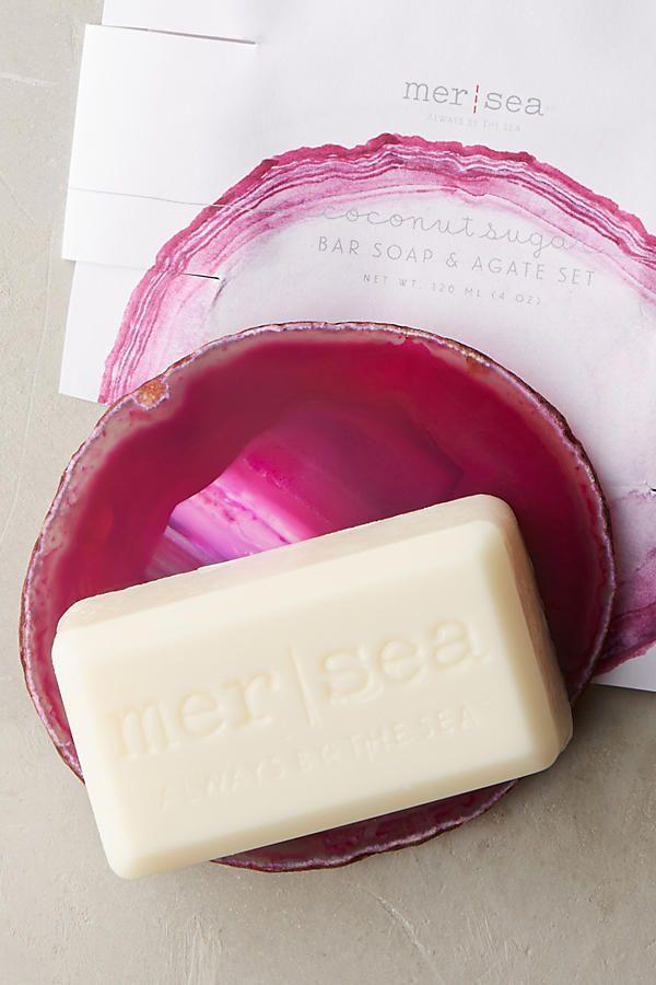 Slide View: 1: Mer-Sea & Co. Bar Soap & Agate Set
