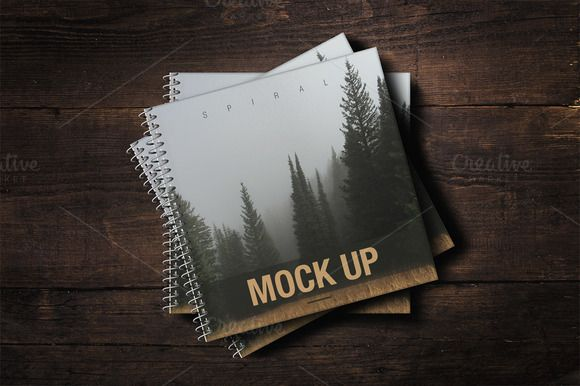 Sale - Spiral Book Cover Mockup by attraax on @creativemarket