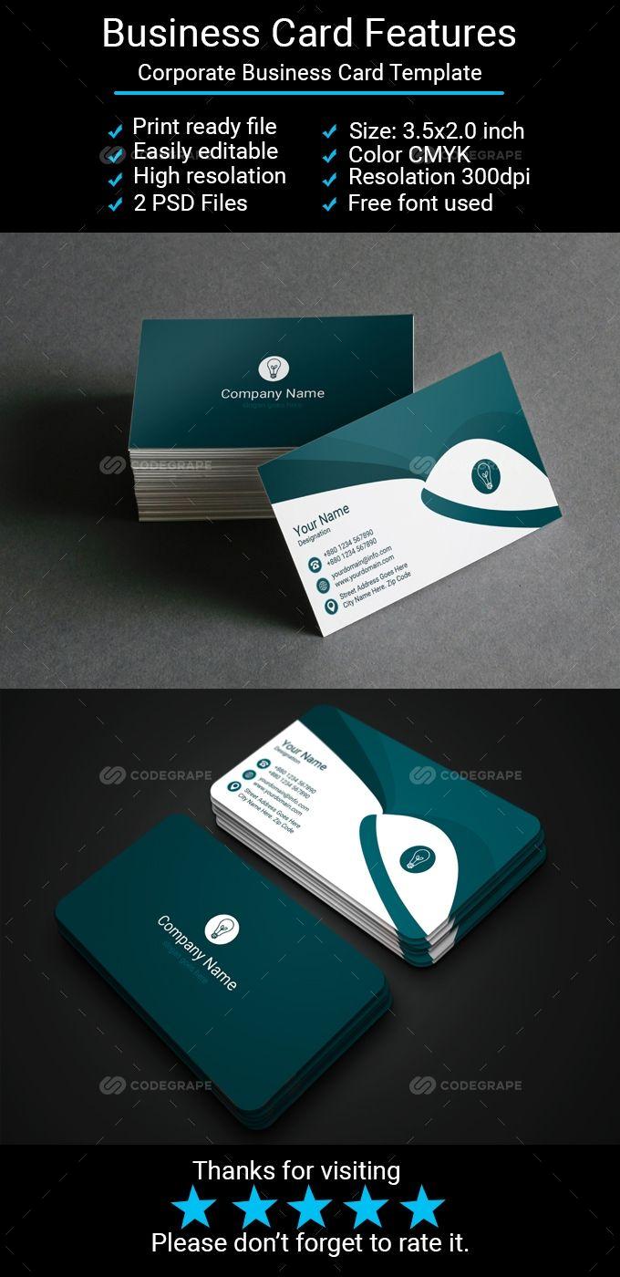 Corporate Business Card Corporate Business Corporate Business Card Double Sided Business Cards