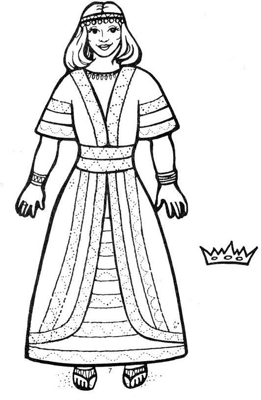 Princess Esther Coloring Pages : Esther coloring page g king