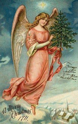 100 yr old angelic postcard