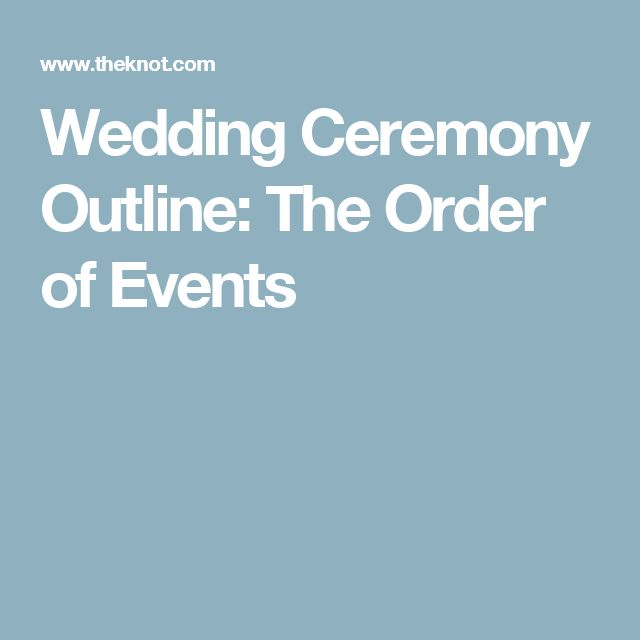 Wedding Ceremony Outline: The Order of Events