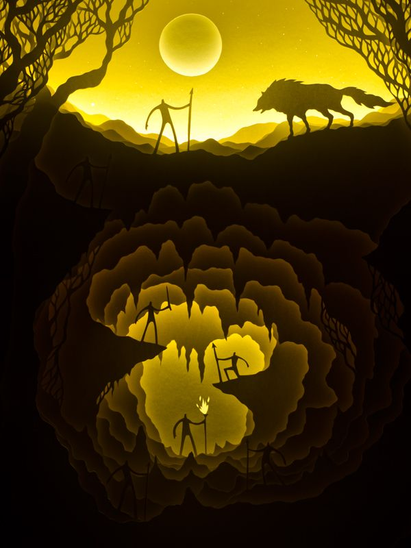 Illuminated Cut Paper Light Boxes by Hari & Deepti paper illustration dioramas. Each diorama is made from layers of cut watercolor paper placed inside a ...