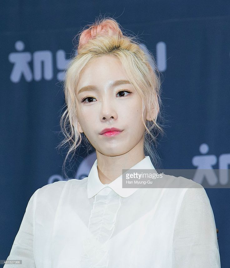Taeyeon of South Korean girl group Girls' Generation attends the OnStyle 'Channel SNSD' Press Conference at Imperial Palace Hotel on July 21, 2015 in Seoul, South Korea. The program will open on July 21, in South Korea.
